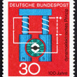 Postage stamp Germany 1966 Diagram of Dynamo — Stock Photo