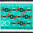 Postage stamp Germany 1971 Molecule Diagram Textile Pattern — Stock Photo
