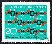 Postage stamp Germany 1971 Molecule Diagram Textile Pattern — Stock Photo