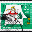 Stock Photo: Postage stamp Germany 1964 Princess and Frog, Scene from The Pri