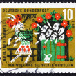 Postage stamp Germany 1963 Scene from The Wolf and the Seven Kid — Stok fotoğraf