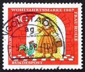Postage stamp Germany 1967 Girl under Gold Rain, Scene from Moth — Stock Photo