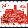 Stock Photo: Postage stamp Germany 1967 Wartburg, Eisenach