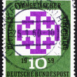 Stock Photo: Postage stamp Germany 1959 Synod Emblem, Munich