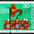 Postage stamp Germany 1973 Radio and Speaker, 1923 — Stock Photo