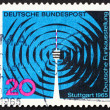 Postage stamp Germany 1965 Waves and Stuttgart Television Tower — Stock Photo