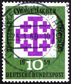 Postage stamp Germany 1959 Synod Emblem, Munich — Stock Photo