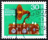 Postage stamp Germany 1973 Radio and Speaker, 1923 — Stock Photo
