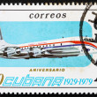 Stock Photo: Postage stamp Cub1979 Brittania, Airplane