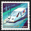 Postage stamp US1989 Air-suspended Hover Car — Stok Fotoğraf #13312597