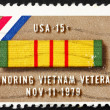 ストック写真: Postage stamp US1979 Ribbon for Viet Nam Service Medal