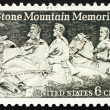 Stock Photo: Postage stamp USA 1970 Stone Mountain Memorial