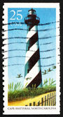 Postage stamp USA 1990 Cape Hatteras, North Carolina, Lighthouse — Stock Photo