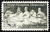 Znaczek pocztowy usa 1970 stone mountain pomnik — Zdjęcie stockowe