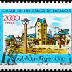 Postage stamp Argentina 1980 Civic Center, Bariloche, Rio Negro — Stock Photo