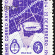 Postage stamp Argentina 1947 Map of Argentine Antarctic Claims - Stock Photo