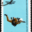 Postage stamp GDR 1966 Parachutist in Free Fall — Stock Photo #13404157