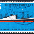 Stock Photo: Postage stamp Germany 1957 Modern Passenger Freighter