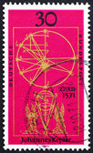 Postage stamp Germany 1971 Illustration from New Astronomy by Ke — Stock Photo