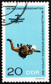 Postage stamp GDR 1966 Parachutist in Free Fall — Stock Photo