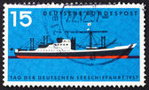 Postage stamp Germany 1957 Modern Passenger Freighter — Stock Photo