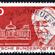 Stock Photo: Postage stamp Germany 1975 Paul Lobe and Reichstag