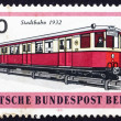 Stock Photo: Postage stamp Germany 1971 MetropolitTrain, 1932