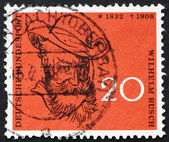 Postage stamp Germany 1958 Wilhelm Busch, Humorist — Stock Photo