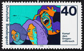 Postage stamp Germany 1975 Three Stages of Drug Addiction — Stock Photo
