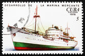 Postage stamp Cuba 1973 Passenger Ship — Stock Photo