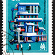 Postage stamp GDR 1974 Power Testing Station — Stock Photo