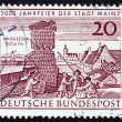 Stock Photo: Postage stamp Germany 1962 Drusus Stone and Old View of Mainz