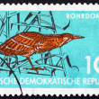 Stock Photo: Postage stamp GDR 1959 Bittern, Wading Bird