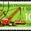 Stock Photo: Postage stamp GDR 1974 Crane Lifting Diesel Locomotive