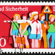 Postage stamp GDR 1975 Children and Child Crossing Guard — Stock Photo #13493025