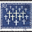 Stock Photo: Postage stamp Germany 1969 Crosses