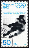 Postage stamp Germany 1971 Ice Hockey, Sapporo 72 — Stock Photo