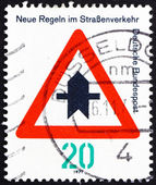 Postage stamp Germany 1971 Proceed with Caution — Stock Photo