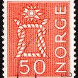 Stock Photo: Postage stamp Norway 1962 Boatswain�s Knot