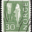 Postage stamp Norway 1963 Rye and Fish — Stock Photo #13654756