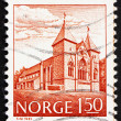 Postage stamp Norway 1981 Stavanger Cathedral, 13th Century - Stock Photo