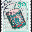 ストック写真: Postage stamp Germany 1973 Drum, 16th Century