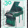 Postage stamp Germany 1973 Pedal Piano, 18th Century — Stock Photo #13654980
