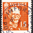 Postage stamp Sweden 1938 King Gustaf V — Stock Photo