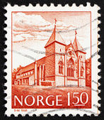 Postage stamp Norway 1981 Stavanger Cathedral, 13th Century — Stock Photo