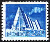 Postage stamp Norway 1981 Church of Tromsdalen, Arctic Cathedral — Stock Photo