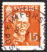 Postage stamp Sweden 1938 King Gustaf V — Foto Stock