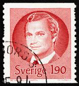 切手スウェーデン 1984年カール 16 世グスタフ、スウェーデンの王 — ストック写真
