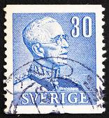 Postzegel zweden 1940 koning gustaaf v, koning van zweden — Stockfoto