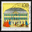 Stock Photo: Postage stamp Germany 1991 Post Office, Bonn